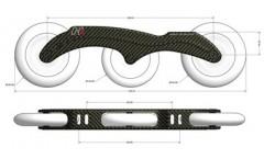 Carbon Frame H3 2x125/1x110mm